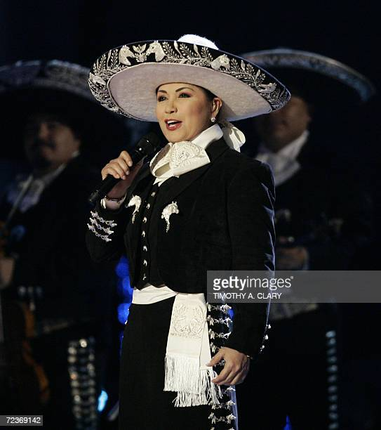 Ana Gabriel performs during the 7th Annual Latin Grammy Awards at Madison Square Garden 02 November 2006 in New York The Latin Grammys is the world's...