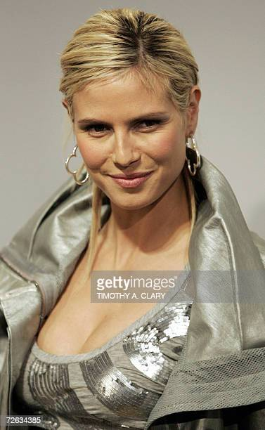 FILES Picture taken 04 February 2005 shows German supermodel Heidi Klum as she arrives for a press conference for Colon Cancer Research during the...