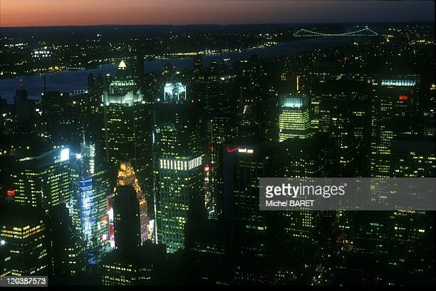 New York United States in July 2002 Manhattan seen from the Empire State Building at dusk