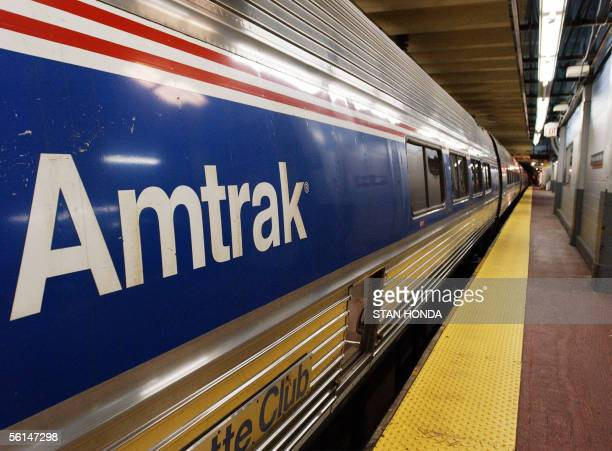 In this 25 October 2002 file photo an Amtrak train sits idle at Penn Station in New York Amtrak the struggling US passenger rail system faces an...