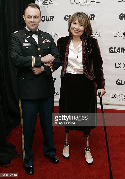 Iraq War veteran and Democratic US Congressional candidate Tammy Duckworth and her husband Bryan Bowlsbey arrive 30 October 2006 at the 17th Annual...