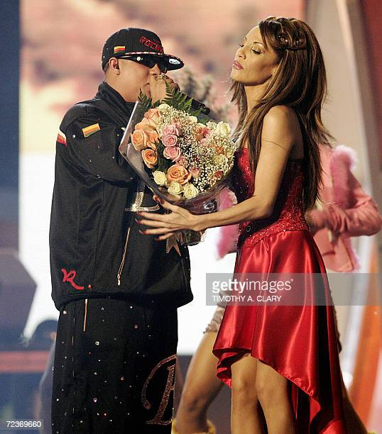 New York, UNITED STATES: Ivy Queen performs during the the 7th Annual Latin Grammy Awards at Madison Square Garden 02 November 2006 in New York. The...