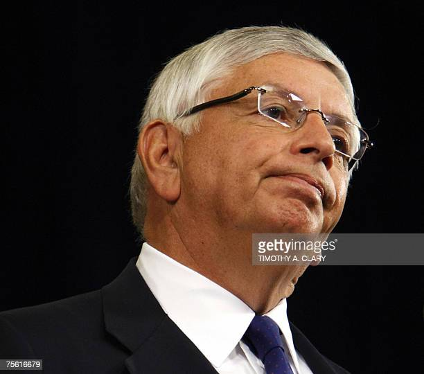 National Basketball Association Commissioner David Stern takes questions during a news conference in New York 24 July 2007Stern said that allegations...