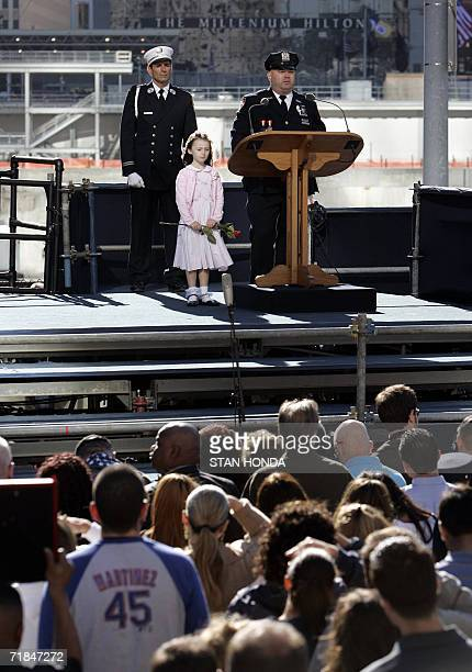 New York, UNITED STATES: New York City Police Department officer James Smith and his daughter Patricia remember NYPD officer Moira Smith as people...
