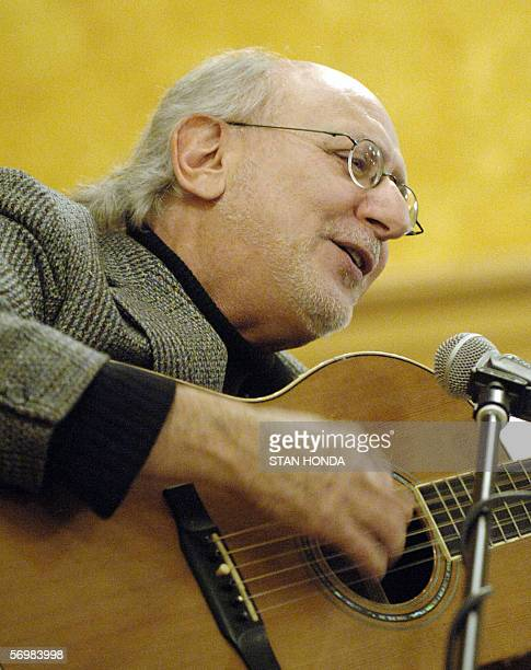 Peter Yarrow of the group Peter Paul and Mary sings at a memorial tribute to kidnapped tortured and murdered Jewish French Ilan Halimi sponsored by...