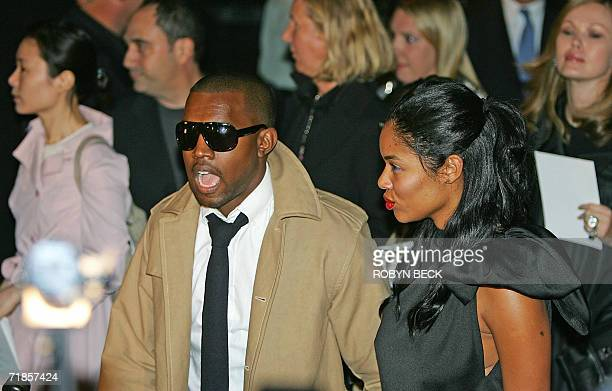 Singer Kanye West and his fiance Alexis arrive for the Marc Jacobs Spring 2007 show at Olympus Fashion Week at the Armory 11 September 2006 in New...