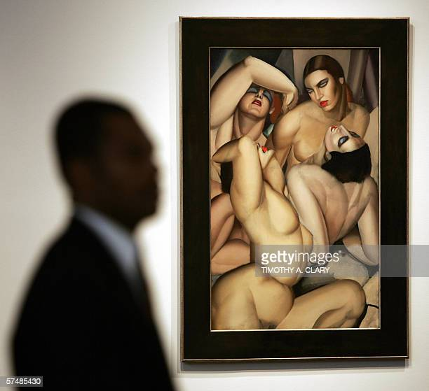 Tamara de Lempicka's Groupe de quatre nus is shown to the media during a press preview 28 April 2006 at Christie's New York to promote the evening...