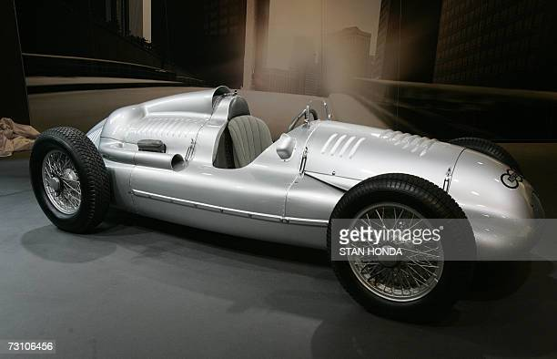 The 1939 Auto Union DType race caris shown at the Audi Forum 25 January 2007 where it will be on public display for two days in New York The car will...