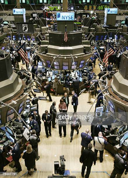 Traders work on the floor of the New York Stock Exchange after the opening bell 28 February 2007 one day after a large worldwide selloff of stocks...