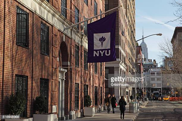 new york university buildings on washington square west - washington square park stock pictures, royalty-free photos & images