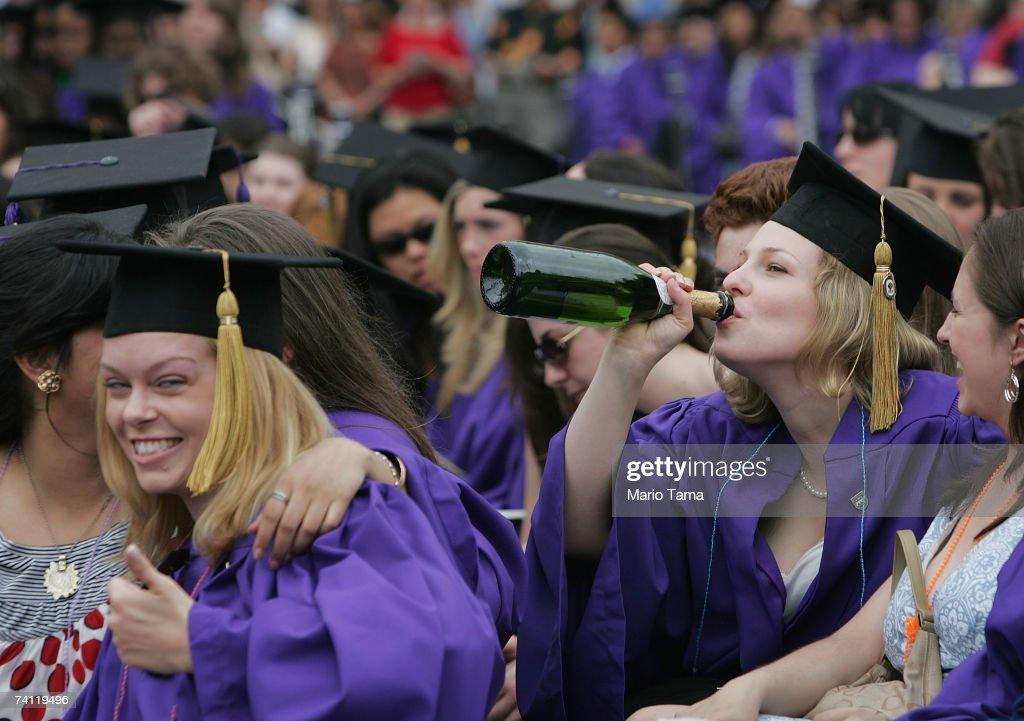 Students Attend Graduation Ceremonies At New York University Photos ...