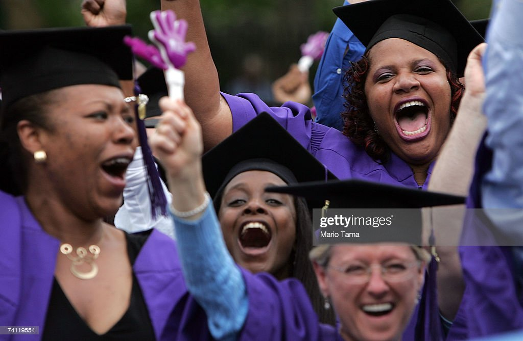 Students Attend Graduation Ceremonies At New York University ...