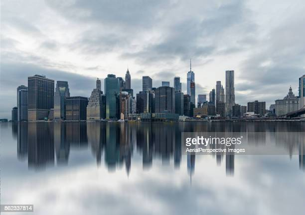 new york urban skyline - new york skyline stock photos and pictures