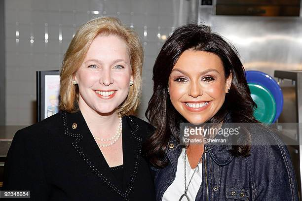 New York US Senator Kristen Gillibrand and TV personality Rachael Ray promote the Yumo Lunch Program at PS 89 / IS 289 on October 26 2009 in New York...
