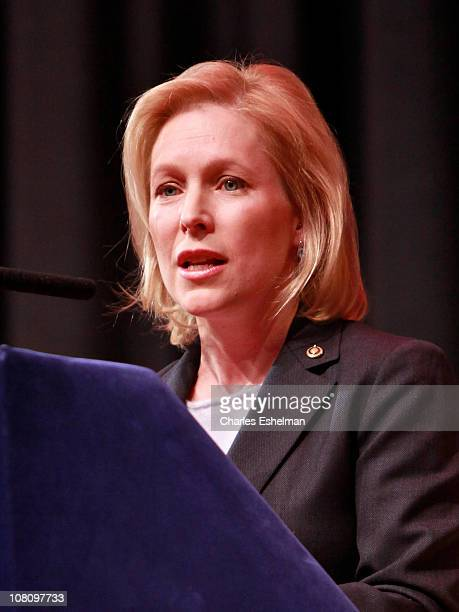 New York US Senator Kristen Gillibrand attends the NYC Service Mentor It Forward Program breakfast reception in honor of Martin Luther King Jr Day at...