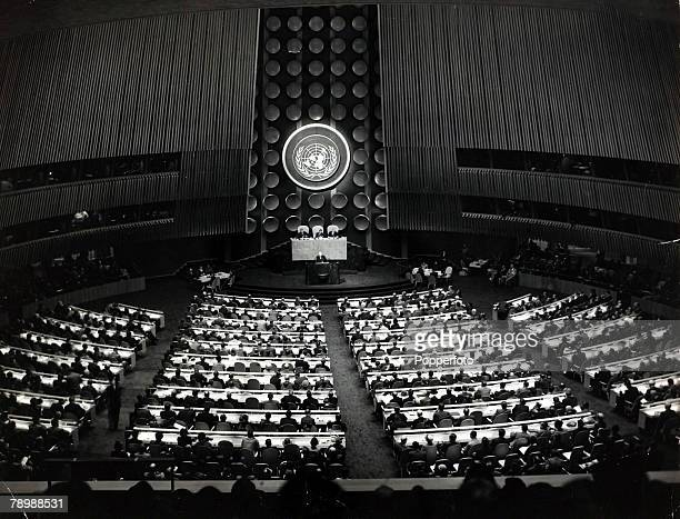 New York USA 14th October 1952 A general view showing the United Nations General Assembly in session