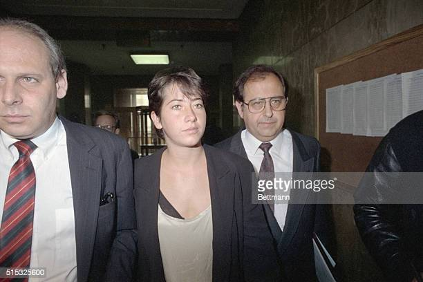 Vanessa Vadim the 21yearold daughter of actress Jane Fonda and French director Roger Vadim leaves court in lower Manhattan after pleading not guilty...