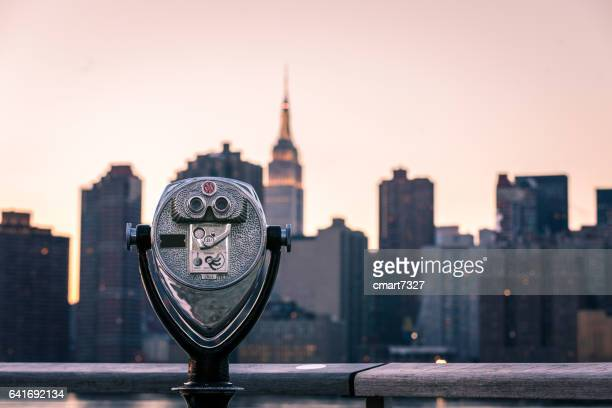 new york view - binoculars stock pictures, royalty-free photos & images