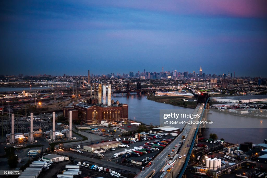 New York viewed from New Jersey : Stock Photo