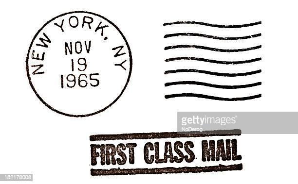 marca postal vintage de nova york - marca postal - fotografias e filmes do acervo