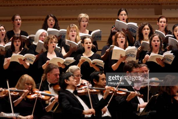 New York Virtuoso Singers and the Orchestra of St Luke's in Haydn's 'The Creation' at Carnegie Hall on Friday night December 21 2012This imageThe New...
