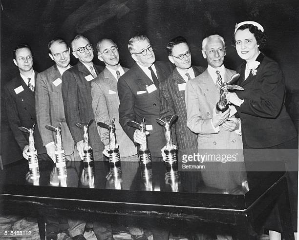 Winners Of The Lasker Awards Mrs Albert D Lester of the Albert and Mary Lasker foundation is shown as she presented the 1953 Lasker Awards of the...