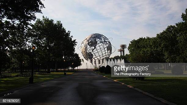 new york world's fair unisphere - flushing queens stock pictures, royalty-free photos & images