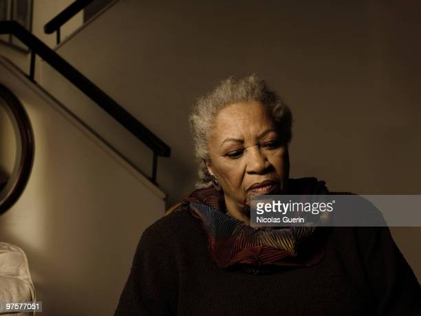 Writer Toni Morrison poses at a portrait session for Self Assignment in New York on February 22 2009