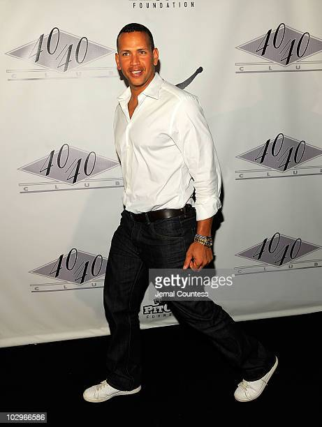 New York Yankee Alex Rodriguez arrives at CC Sabathia's 30th Birthday Party at the 40/40 Club on July 18 2010 in New York City