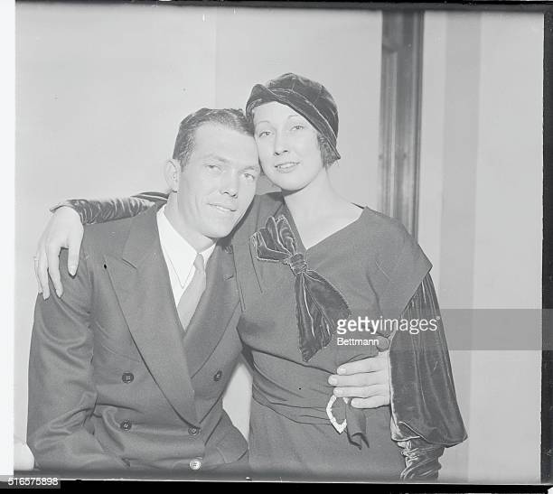 Yankee Backstop To Wed Bill Dickey catcher for the world champion New York Yankees and his fiancee Miss Violet Arnold are seen here at St Malachy's...