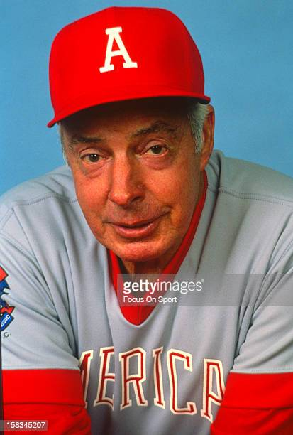 New York Yankee great Joe DiMaggio poses for this portrait before the 50th Anniversary Major League Baseball's All Star game July 6 1983 at Comiskey...