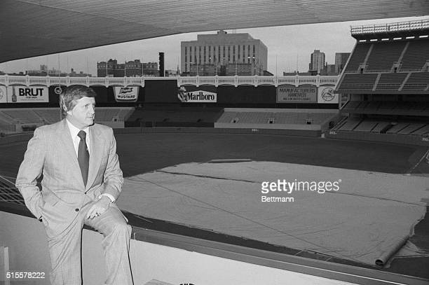 Yankee owner George Steinbrenner spends a quiet moment at Yankee Stadium 10/17- one of the few such periods of tranquility thes year. On the eve of...