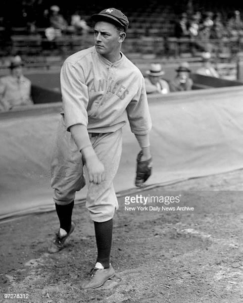 New York Yankee pitcher Waite Hoyt