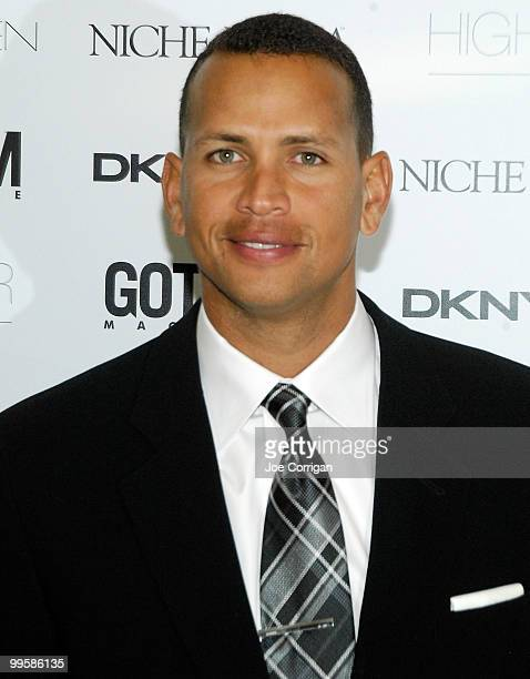 New York Yankee third baseman Alex Rodriguez attends the Gotham Magazine Cover Party for Alex Rodriguez at Highbar on May 15 2010 in New York City