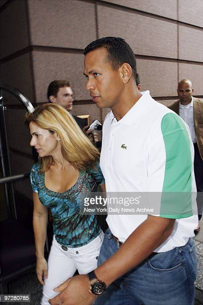 New York Yankees' Alex Rodriguez arrives at the RitzCarlton hotel in Boston with his wife Cynthia Reports have surfaced that ARod frequents strip...