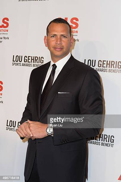 New York Yankees Alex Rodriguez attends The ALS Association Greater New York 21st Annual Lou Gehrig Sports Awards Benefit at The New York Marriott...