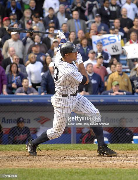 New York Yankees' Alex Rodriguez blasts a threerun walkoff homer to center in the bottom of the ninth inning to lift the Yanks to an 86 win over the...