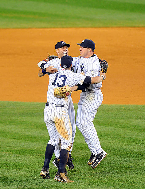New York Yankees Alex Rodriguez, Derek Jeter and Mark Teixei