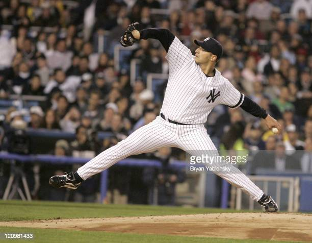 New York Yankees Andy Pettitte pitching in a regular season game against the Boston Red Sox played at Yankee Stadium in Bronx NY Red Sox defeated the...