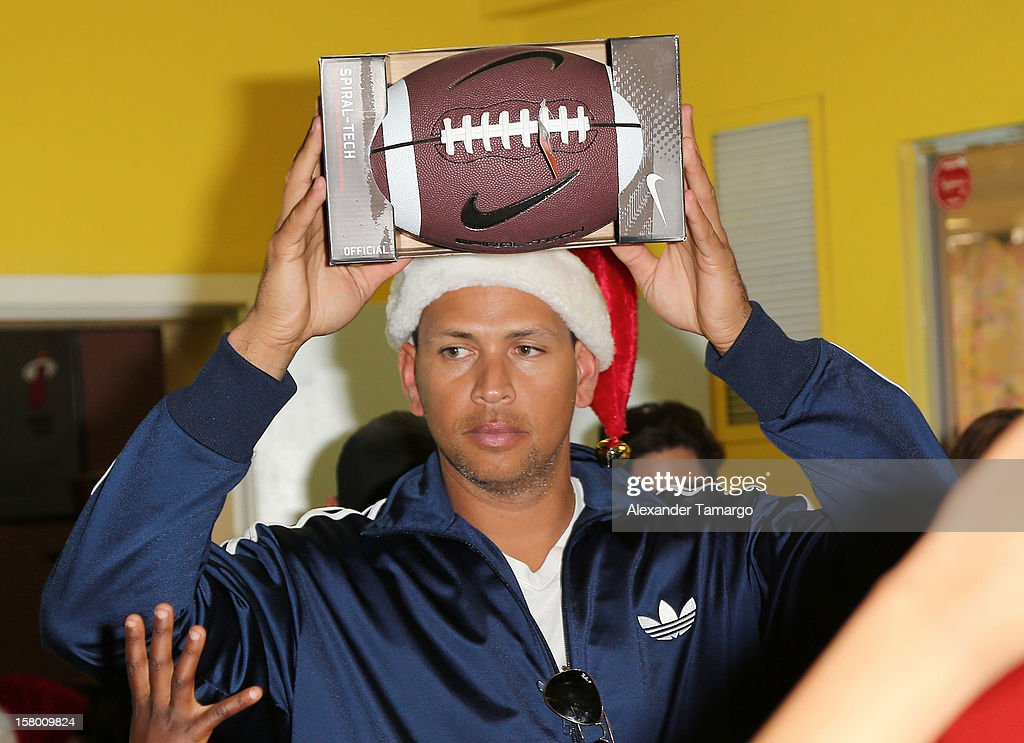 Alex Rodriguez Delivers Toys at Boys & Girls Clubs of Miami-Dade