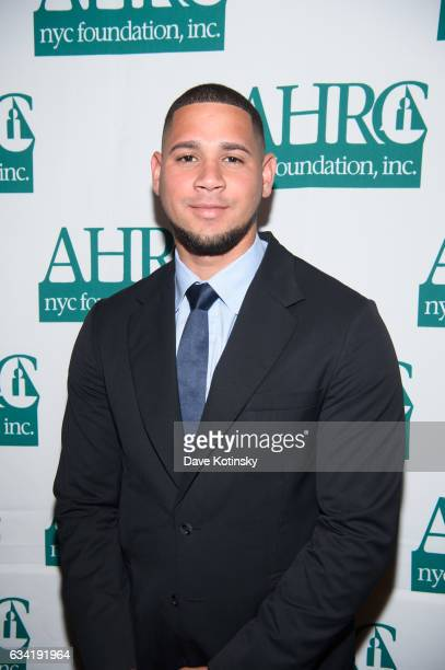 New York Yankees catcher Gary Sanchez attends the 37th Annual Thurman Munson Awards Dinner on February 7 2017 in New York City
