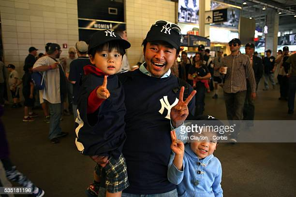 New York Yankees fans from Japan during the game with Masahiro Tanaka New York Yankees pitching during the New York Yankees V Tampa Bay Rays Major...