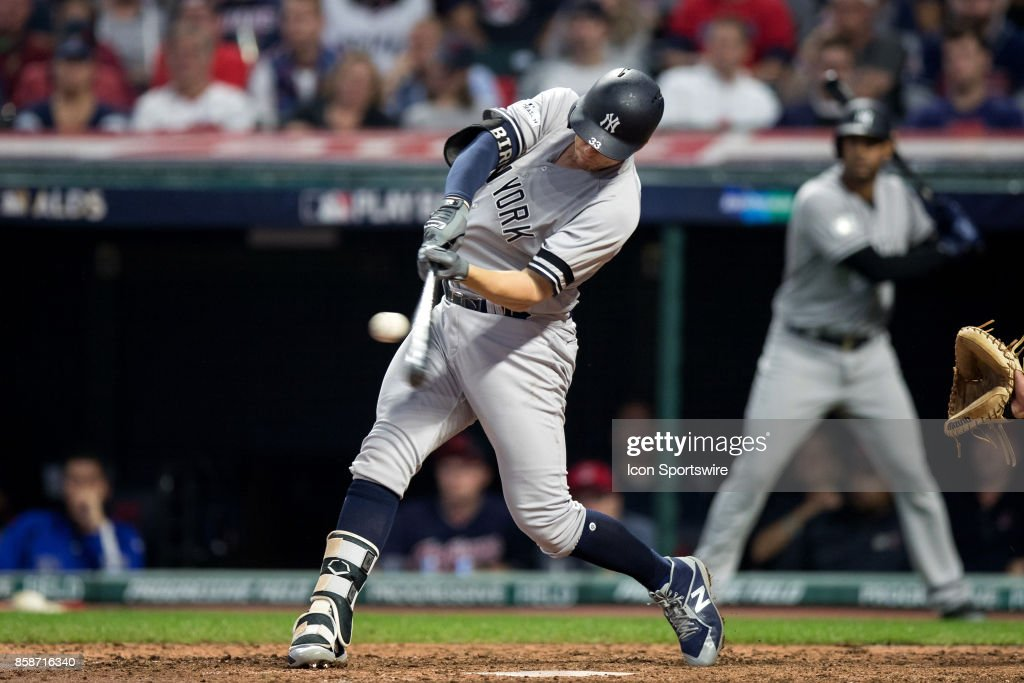MLB: OCT 06 ALDS Game 2 - Yankees at Indians : News Photo