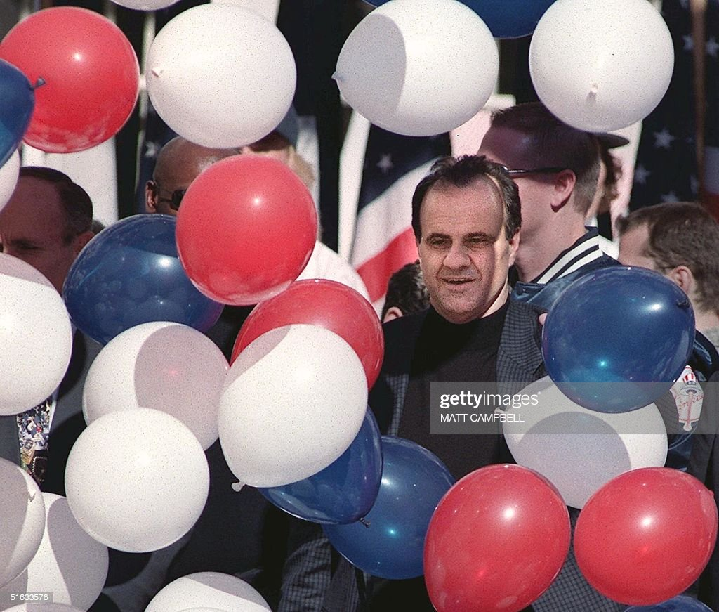 New York Yankees Head Coach Joe Torre Is Surrounded By Balloons At