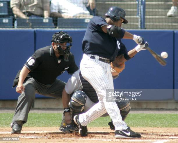New York Yankees infielder Robinson Cano in a spring training game against the Detroit Tigers on Thursday March 9 2006 at Legends Field in Tampa...