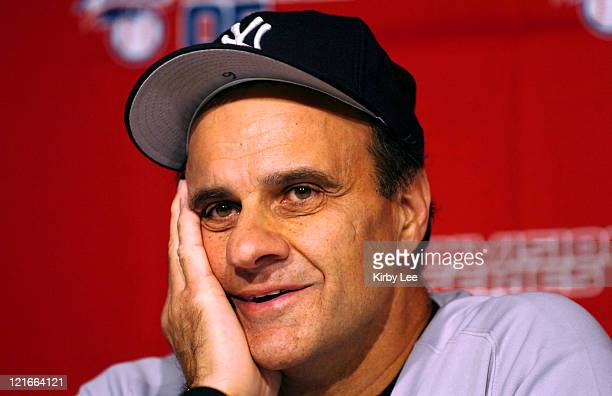 New York Yankees manager Joe Torre during postgame press conference after 42 victory over the Los Angeles Angels of Anaheim in MLB Division Series...