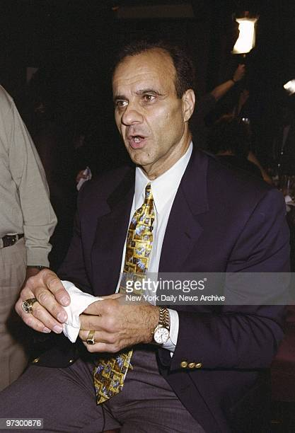 New York Yankees' manager Joe Torre is on hand for a benefit at Birdland on W 44th St where the American Cancer Society honored prostate cancer...