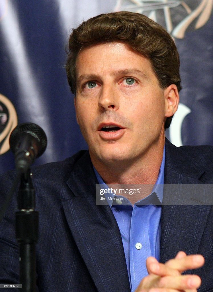 New York Yankees Managing General Partner Hal Steinbrenner speaks during a press conference announcing that Yankee Stadium will play host to the 2010 Notre Dame v Army college football game on July 19, 2009 at Yankee Stadium in the Bronx borough of New York City. The game is to be played on November 20, 2010.