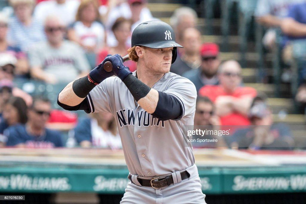 MLB: AUG 06 Yankees at Indians : News Photo