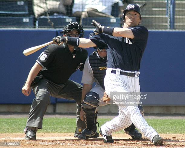 New York Yankees outfielder Hideki Matsui in a spring training game against the Detroit Tigers on Thursday March 9 2006 at Legends Field in Tampa...